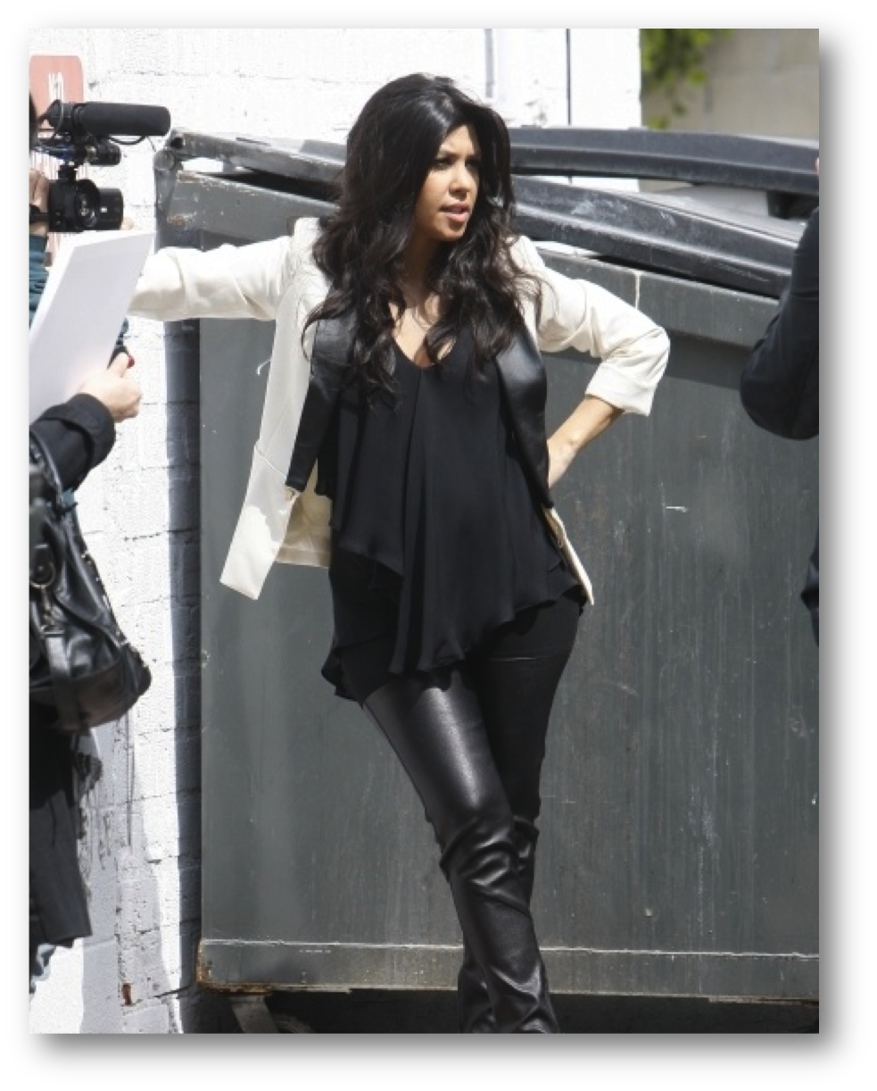 kourtney kardashian pregnant fashion