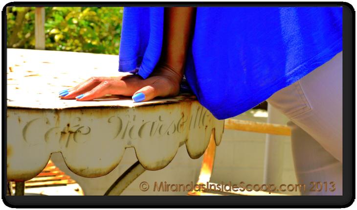 electric royal blue nail beauty