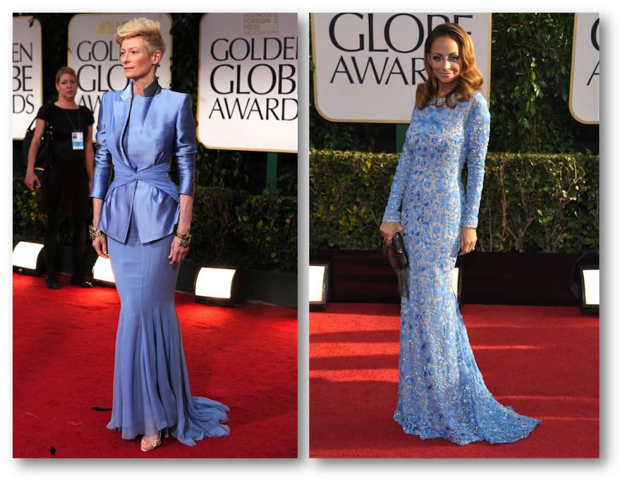 Tilda Swinton golden globes, Nicole Ritchie golden globes
