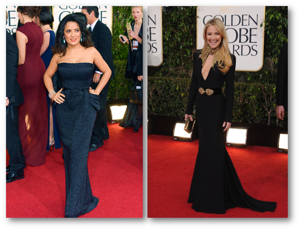 Salma Hayek golden globes, Kate Hudson golden globes