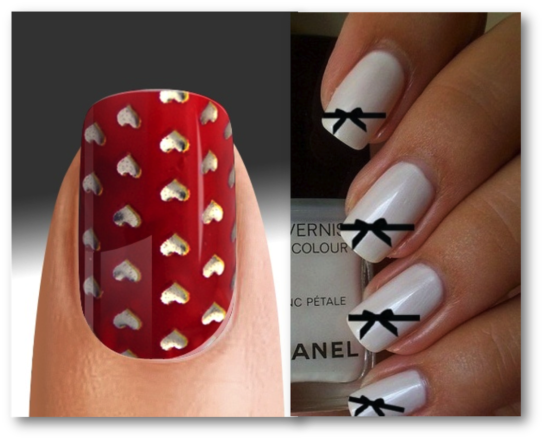 valentine inspired nail art