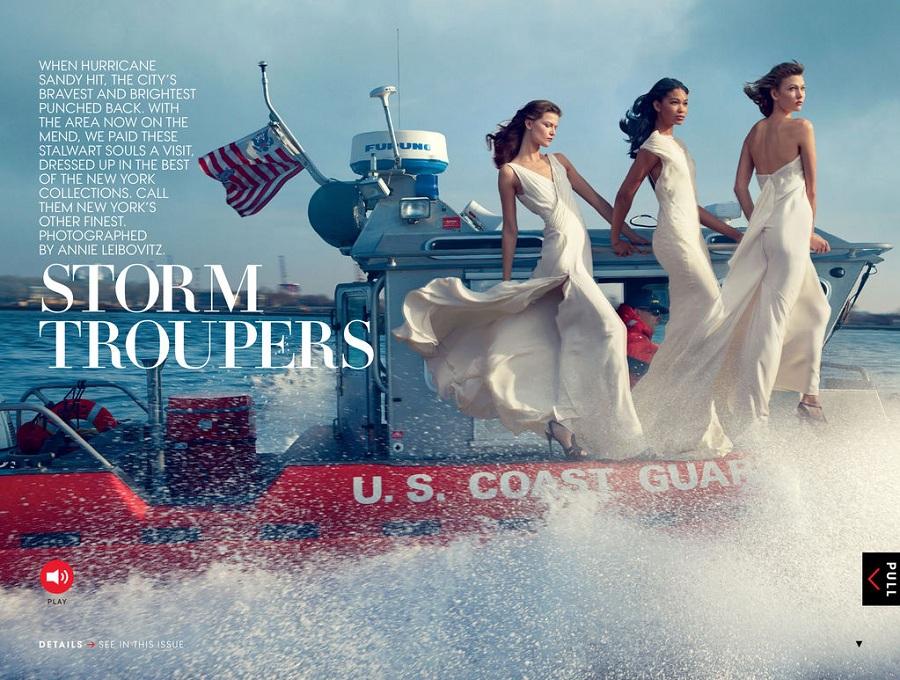 Chanel Iman fashion editorials
