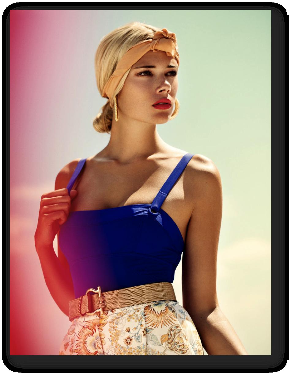 Beachy summer swimwear editorials