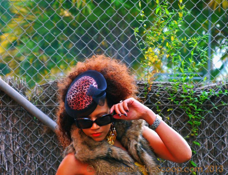 leopard print fascinator