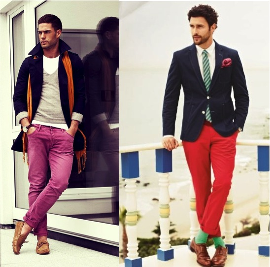 menS colour blocking TRENDS