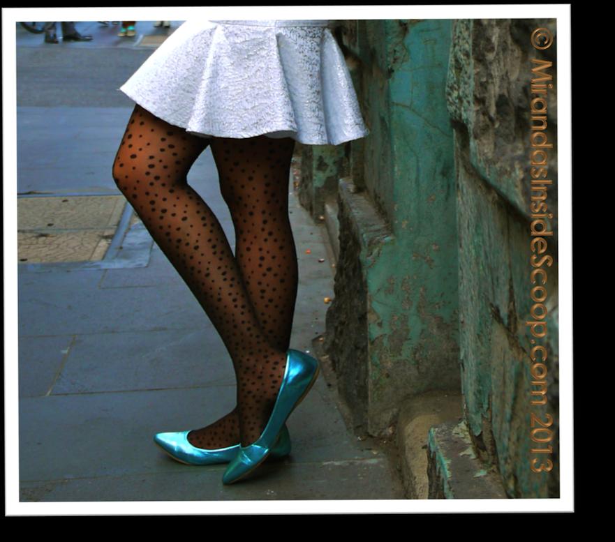 white skirt confidence