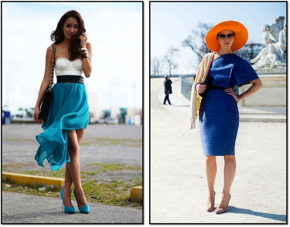 blue and orange fashion