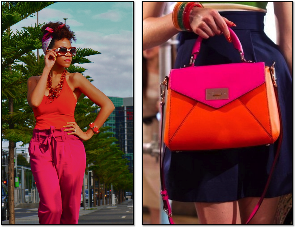 pink and orange fashion
