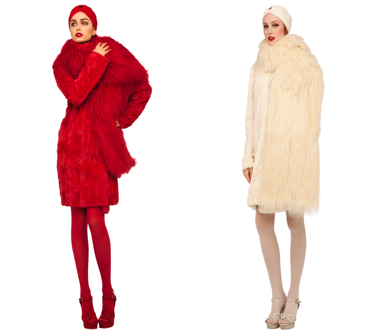 how to wear colourful fur
