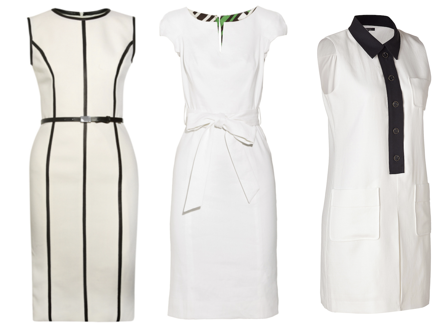 white work dresses