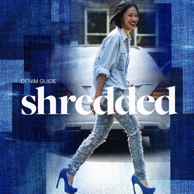 shredded denim