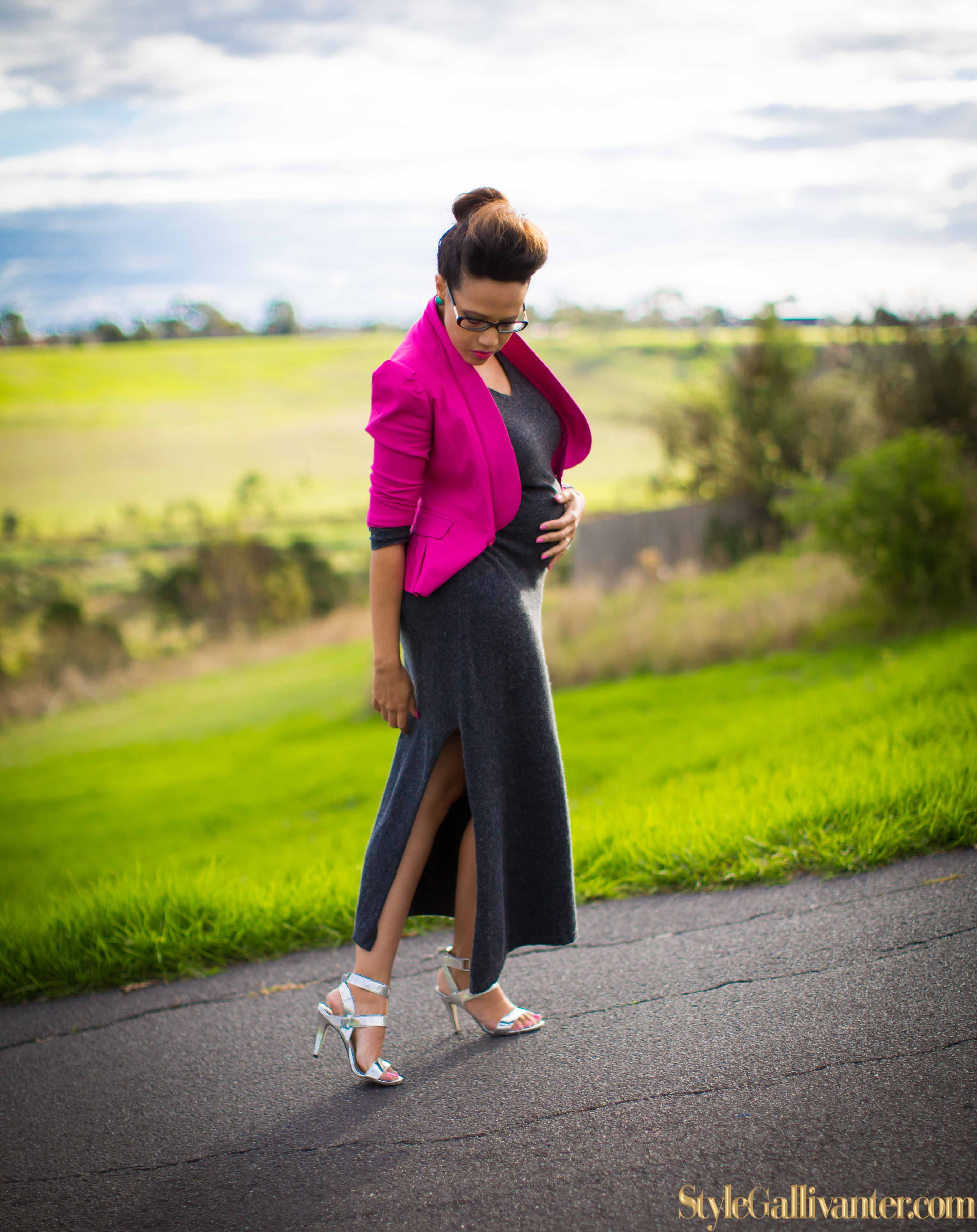 BUMP-MODELS-AUSTRALIA_GREY-AND-PINK_WINTER-DRESS-TREND_PREGNANT-FASHION-BLOGGERS-MELBOURNE_MELBOURNE'S BEST MUMMY-BLOGGERS_STRAPPY-SILVER HEELS-8