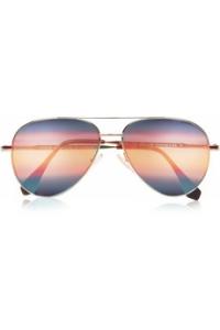 Aviator metal mirrored sunglasses