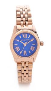 Michael Kors Preppy Chic Petite Lexington Watch - Blue/Rose Gold