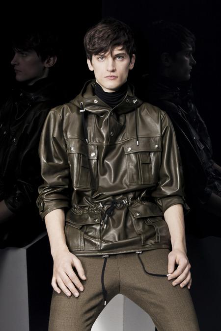 Balmain-FALL-2014-MENSWEAR_best-menswear-collections-2014_zebra-print-menswear_mens-printed-sports-jackets_good-looking-male-models_best-menswear-blogs-melbourne-australia_green-military-leather-jacket-menswear
